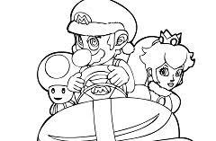 mario kart coloring mario games
