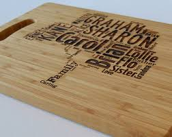 personalised cutting boards personalised pac engraved wooden chopping board light