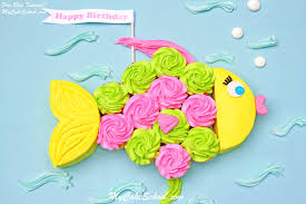 fish birthday cakes fish cupcake cake a tutorial my cake school