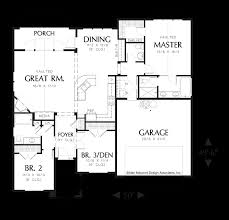 Floor Plans With Great Rooms Mascord House Plan 1146a The Reagan