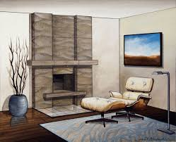 fireplace modern home interior design with tv built in walls and