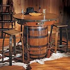Western Dining Room Western Pub Table And Stools Adorned With All The Trappings Of