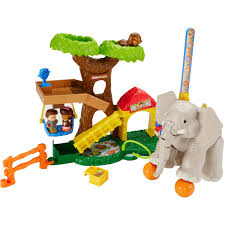 Little Treehouse Early Learning Center Fisher Price Little People A To Z Learning Zoo Playset Walmart Com