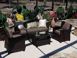 Patio Sets With Fire Pit by Patio 9 Louvre Patio Furniture Drift Teak Wicker Conversation