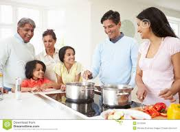 indian family cooking stock photo image 41350665