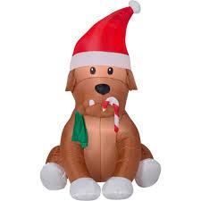 gemmy airblown christmas inflatables english bulldog 4 u0027 walmart com
