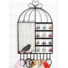 popular bird hangers buy cheap bird hangers lots from china bird earrings necklace rack bracelet stand holder wall mount bird cage shaped hanger organizer neck jewelry easel