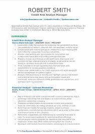 credit manager resume credit risk analyst resume samples qwikresume