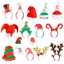 12 x adults festive christmas santa reindeer hat