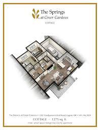 floor plan cottage senior apartment floor plans the springs at greer gardens