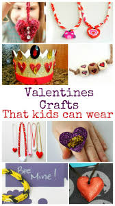wearable valentines crafts and tuesday tutorials in the playroom
