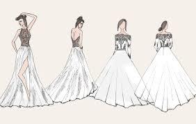 dress desighn sketch fashion hand drawn illustration vector