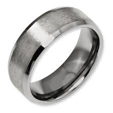 titanium wedding bands for men titanium beveled edge 8mm satin and polished men s wedding band