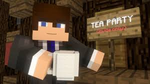 christmas tea party minecraft animation youtube