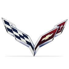 2014 corvette stingray emblem 2014 c7 corvette stingray crossed flag emblem metal sign free