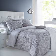 Primark Single Duvet Cover Pieridae Paisley Grey Duvet Cover U0026 Pillowcase Set Bedding Digital