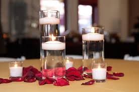 Floating Candle Centerpieces by Cobblestone Hall U0026 Sacred Heart Cathedral Wedding Floating
