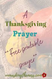 want a great thanksgiving prayer to at your meal