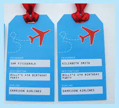 themed luggage tags airplane party printables invitations decorations party