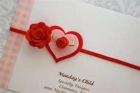 felt headbands diadema de día de san valentín venda bebé por mymondayschild