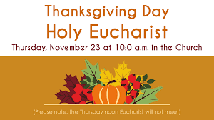 thanksgiving day eucharist episcopal church of the transfiguration