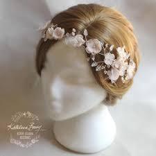 hair wreath blush pink bridal wedding flower crown barry accessories