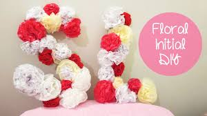 flower letters room decoration and gift idea sunny diy youtube