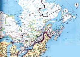 Map Of Canada And New York by Cosco Canada Inc