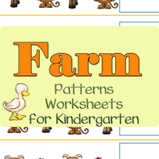 forest animals pattern worksheets for kindergarten