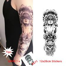 new style queen of spades temporary tattoo stickers tribal indian
