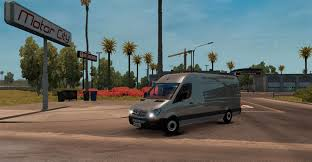 bmw sprinter van mercedes sprinter lwb v 1 0 mod american truck simulator mod