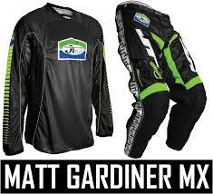 jt racing motocross gear jt racing classick motocross mx kit pants jersey black green retro