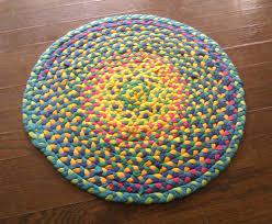 Rag Rugs For Kitchen Make A Braided T Shirt Rug 5 Steps With Pictures