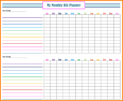 monthly bills template bill free printable 38 saneme