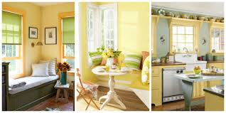 Kitchen Yellow Walls White Cabinets by Yellow Decor Decorating With Yellow