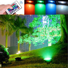 12 Volt Landscape Lights 10w Outdoor Garden Light Waterproof Rgb Color Changing Flashlight