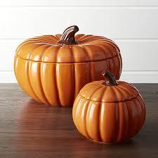 pumpkin serving bowls with lids crate and barrel