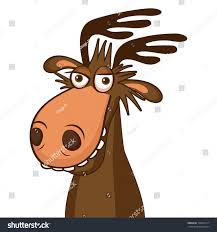 moose face picture cartoon smile deer stock vector 724097317