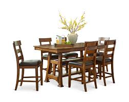 ozark counter height table with 4 counterstools hom furniture