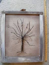 large reclaimed barn wood and barbed wire tree by phloxriverstudio
