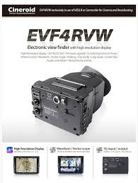 electronic finder cineroid evf electronic view finder accessories now available