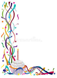birthday ribbons birthday cupcake with ribbons and confetti stock vector