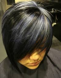 gray hair streaked bith black 50 stylish highlighted hairstyles for black hair 2017