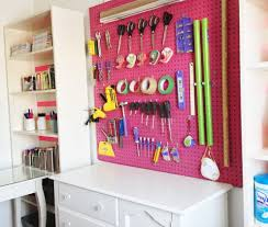 Pegboard Ideas by Pegboard Ideas For Craft Room Home Design Ideas