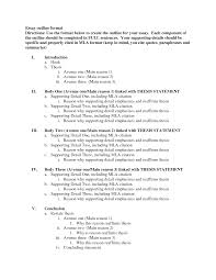 argumentative essay outline sample best photos of example essay outline template argumentative mla format example essay outline