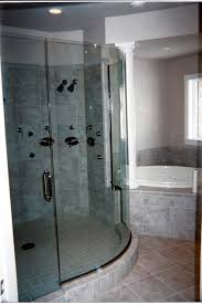 curving sliding glass door with silver steel handler also shower curving sliding glass door with silver steel handler also shower on the gray tile wall combined