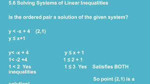 chapter 5 systems of equations and inequalities ppt video online