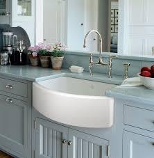 Blue Kitchen Sink Rohl Shaws Original Waterside Apron Front Fireclay Kitchen Sink