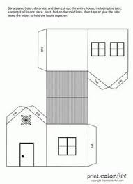 printable paper puzzles house cutout craft print color fun free printables coloring