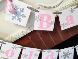 pink and silver baby shower baby it s cold outside baby shower decorations pink and silver